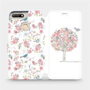 Flipové pouzdro Mobiwear na mobil Huawei Y6 Prime 2018 - M120S Strom a ptáčci