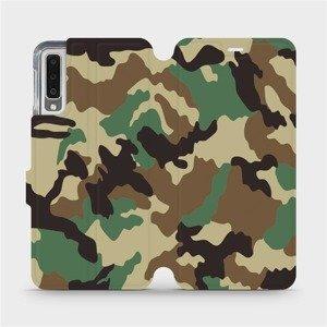Flipové pouzdro Mobiwear na mobil Samsung Galaxy A7 2018 - V111P Maskáče