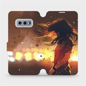 Flipové pouzdro Mobiwear na mobil Samsung Galaxy S10e - MA02S Tetovaná dívka
