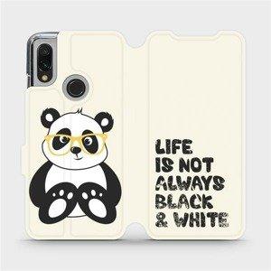 Flipové pouzdro Mobiwear na mobil Xiaomi Redmi 7 - M041S Panda - life is not always black and white