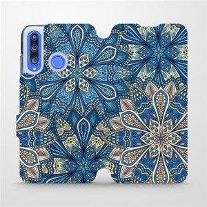 Flipové pouzdro Mobiwear na mobil Honor 20 Lite - V108P Modré mandala květy