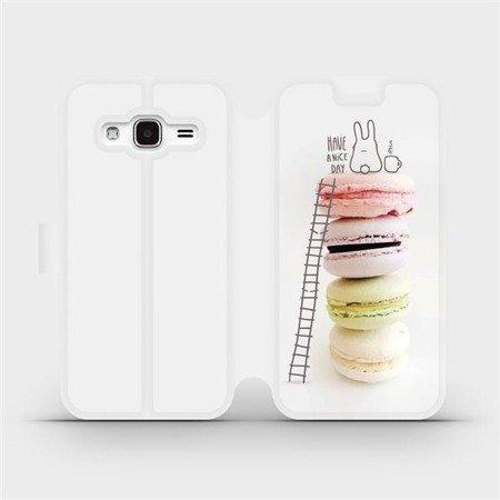 Flipové pouzdro Mobiwear na mobil Samsung Galaxy J3 2016 - M090P Makronky - have a nice day