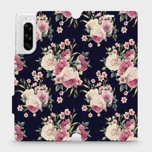 Flipové pouzdro Mobiwear na mobil Sony Xperia 5 - V068P Růžičky