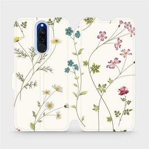 Flipové pouzdro Mobiwear na mobil Xiaomi Redmi 8 - MD03S Tenké rostlinky s květy