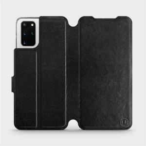 Flipové pouzdro Mobiwear na mobil Samsung Galaxy S20 Plus v provedení C_BLS Black&Gray s šedým vnitřkem