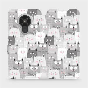 Flipové pouzdro Mobiwear na mobil Nokia 5.3 - M099P Kočičky