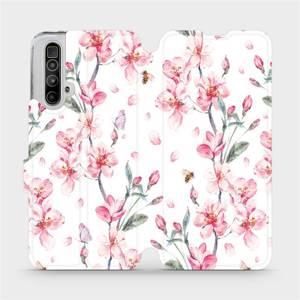 Flipové pouzdro Mobiwear na mobil Realme X3 SuperZoom - M124S Růžové květy