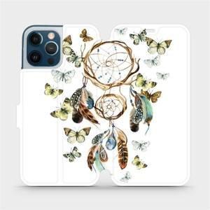 Flipové pouzdro Mobiwear na mobil Apple iPhone 12 Pro Max - M001P Lapač a motýlci