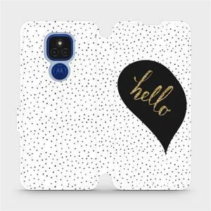 Flipové pouzdro Mobiwear na mobil Motorola Moto E7 Plus - M013P Golden hello