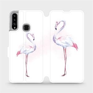 Flipové pouzdro Mobiwear na mobil Samsung Galaxy A20S - M005S Plameňáci