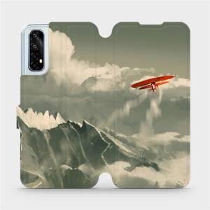 Flipové pouzdro Mobiwear na mobil Realme 7 - MA03P Oranžové letadlo v horách