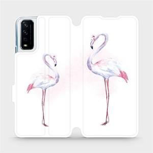 Flipové pouzdro Mobiwear na mobil Vivo Y11S - M005S Plameňáci