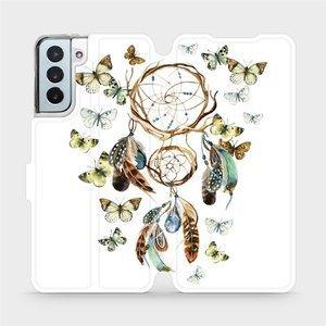 Flipové pouzdro Mobiwear na mobil Samsung Galaxy S21 Plus 5G - M001P Lapač a motýlci