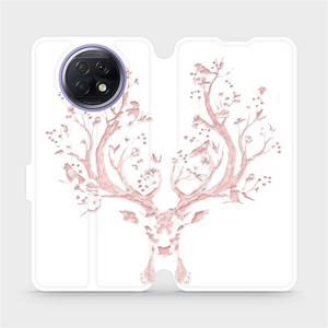 Flipové pouzdro Mobiwear na mobil Xiaomi Redmi Note 9T 5G - M007S Růžový jelínek
