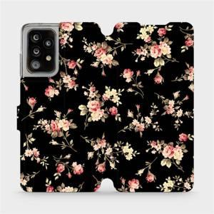 Flipové pouzdro Mobiwear na mobil Samsung Galaxy A52 5G / LTE / A52s 5G - VD02S Květy na černé - výprodej