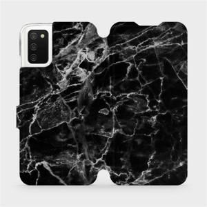 Flipové pouzdro Mobiwear na mobil Samsung Galaxy A02s - V056P Černý mramor