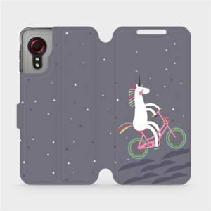 Flipové pouzdro Mobiwear na mobil Samsung Galaxy Xcover 5 - V024P Jednorožec na kole
