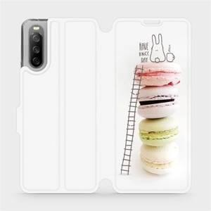 Flip pouzdro Mobiwear na mobil Sony Xperia 10 III - M090P Makronky - have a nice day