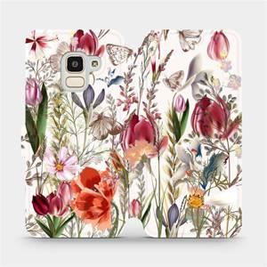 Flip pouzdro Mobiwear na mobil Samsung Galaxy J6 2018 - MP01S Rozkvetlá louka