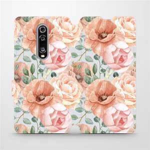 Flip pouzdro Mobiwear na mobil Xiaomi Mi 9T - MP02S Pastelové květy