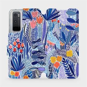 Flip pouzdro Mobiwear na mobil Vivo Y70 - MP03P Modrá květena