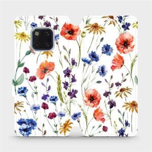 Flip pouzdro Mobiwear na mobil Huawei Mate 20 Pro - MP04S Luční kvítí