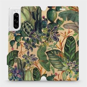 Flip pouzdro Mobiwear na mobil Sony Xperia 5 - VP05S Sukulenty