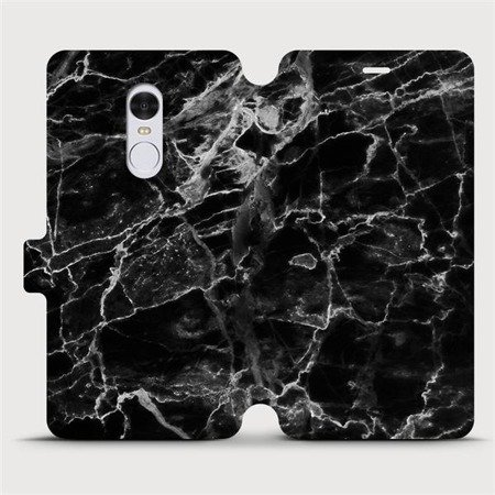 Flipové pouzdro Mobiwear na mobil Xiaomi Redmi Note 4 Global - V056P Černý mramor