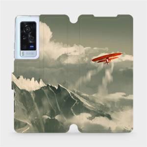 Flip pouzdro Mobiwear na mobil Vivo X60 Pro 5G - MA03P Oranžové letadlo v horách