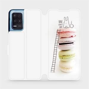 Flip pouzdro Mobiwear na mobil Realme 8 5G - M090P Makronky - have a nice day