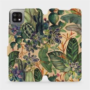 Flip pouzdro Mobiwear na mobil Samsung Galaxy A22 5G - VP05S Sukulenty