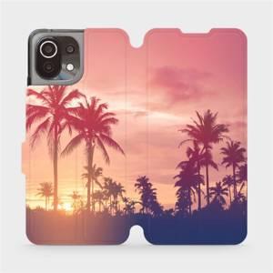 Flip pouzdro Mobiwear na mobil Xiaomi 11 Lite 5G NE - M134P Palmy a růžová obloha