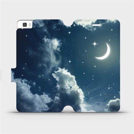 Flipové pouzdro Mobiwear na mobil Huawei P8 Lite - V145P Noční obloha s měsícem