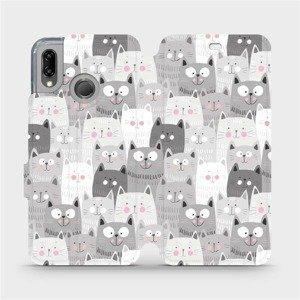 Flipové pouzdro Mobiwear na mobil Huawei P20 Lite - M099P Kočičky