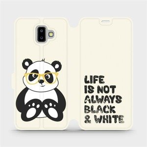 Flipové pouzdro Mobiwear na mobil Samsung Galaxy J6 Plus 2018 - M041S Panda - life is not always black and white