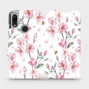 Flipové pouzdro Mobiwear na mobil Xiaomi Redmi 7 - M124S Růžové květy
