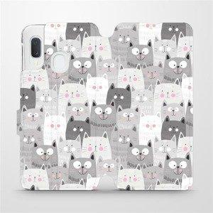 Flipové pouzdro Mobiwear na mobil Samsung Galaxy A20e - M099P Kočičky