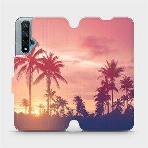 Flipové pouzdro Mobiwear na mobil Huawei Nova 5T - M134P Palmy a růžová obloha