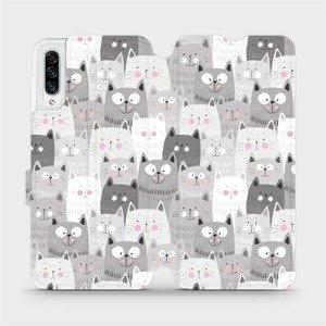 Flipové pouzdro Mobiwear na mobil Samsung Galaxy A30s - M099P Kočičky