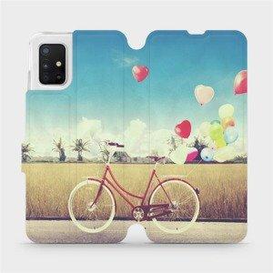 Flipové pouzdro Mobiwear na mobil Samsung Galaxy A51 - M133P Kolo a balónky