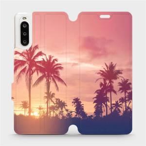 Flipové pouzdro Mobiwear na mobil Sony Xperia 10 II - M134P Palmy a růžová obloha