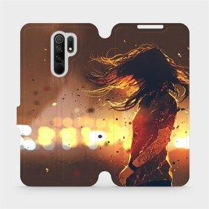 Flipové pouzdro Mobiwear na mobil Xiaomi Redmi 9 - MA02S Tetovaná dívka