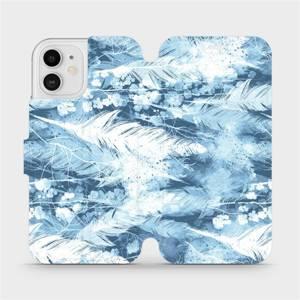 Flipové pouzdro Mobiwear na mobil Apple iPhone 12 - M058S Světle modrá horizontální pírka