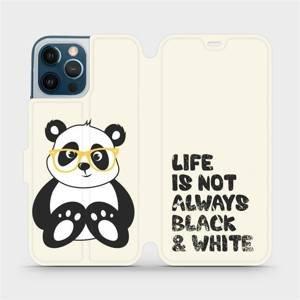 Flipové pouzdro Mobiwear na mobil Apple iPhone 12 Pro Max - M041S Panda - life is not always black and white