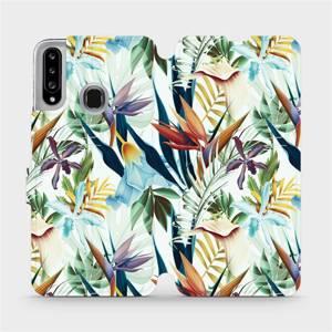 Flipové pouzdro Mobiwear na mobil Samsung Galaxy A20S - M071P Flóra
