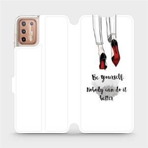 Flipové pouzdro Mobiwear na mobil Motorola Moto G9 Plus - M046P Be yourself