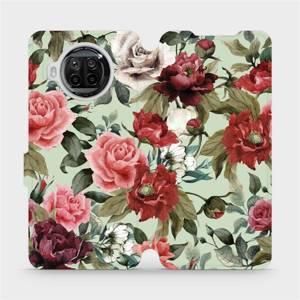 Flipové pouzdro Mobiwear na mobil Xiaomi MI 10T Lite - MD06P Růže a květy na světle zeleném pozadí