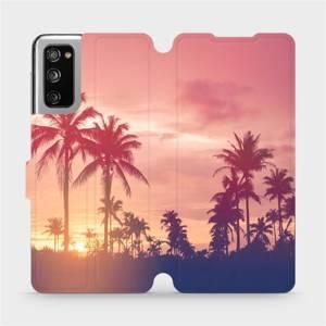 Flipové pouzdro Mobiwear na mobil Samsung Galaxy S20 FE - M134P Palmy a růžová obloha