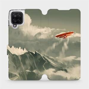 Flipové pouzdro Mobiwear na mobil Samsung Galaxy A12 - MA03P Oranžové letadlo v horách