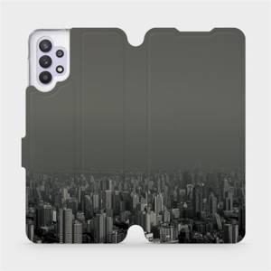 Flipové pouzdro Mobiwear na mobil Samsung Galaxy A32 5G - V063P Město v šedém hávu